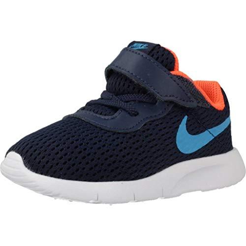 Nike Unisex Baby Tanjun (TDV) Sneaker, Blau (Midnight Navy/Laser Blue/Hyper Crimson), 25 EU