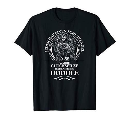 Lustiger Doodle Schutzengel Hund Hunde Hundespruch T-Shirt
