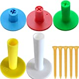 Love&PI Rubber Golf Tees & Holders in One Pack for Driving Range Mats (1'+1.5'+2'+2.75'+3.1', Multi-Height)