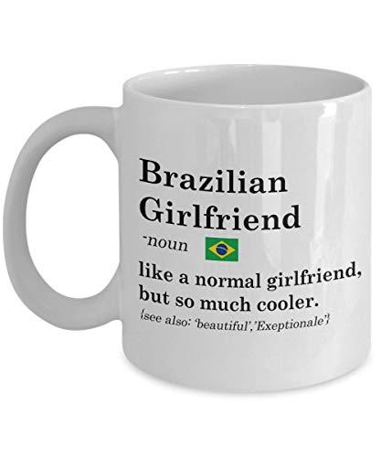 MJDIY Tassen,Brasilianische Freundin Definition Tasse, 11 Unzen Keramik Weiße Kaffeetassen, Romantische Teetassen Für Russische Freundin, Urkomische Liebhaber Geschenk Von Freunden