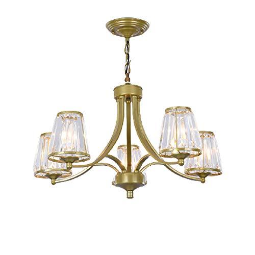 boaber Lámpara de cristal LED luz de techo sala de estar dormitorio comedor entrada entrada luz caliente oro φ65×40cm