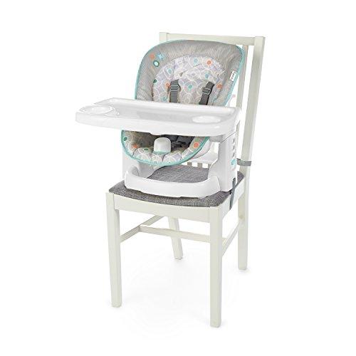 Ingenuity, Benson Hochstuhl und Sitzerhöhung für Babys und Kleinkinder, platzsparend, wächst mit, Leicht zu reinigen und einfach zu Transportieren