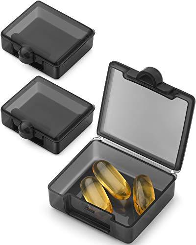 Barhon Tablettendose für den täglichen Gebrauch, tragbar, für die Handtasche, für Reisen, für einen Tag, für Vitamine, Fischöl, Nahrungsergänzungsmittel