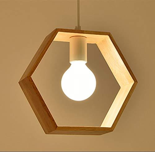 E27 Créatif Suspensions Luminaires Industrielle Bois Plafonnier Moderne Luminaire Lumiere Contemporain Suspensions Plafonniers Luminaire (Forme d'hexagone)