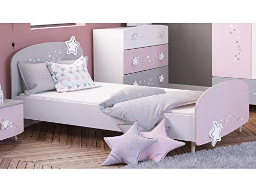 möbelando Kinder-Bett Motivbett Einzelbett Mädchenbett Prinzessinnenbett Savannah I