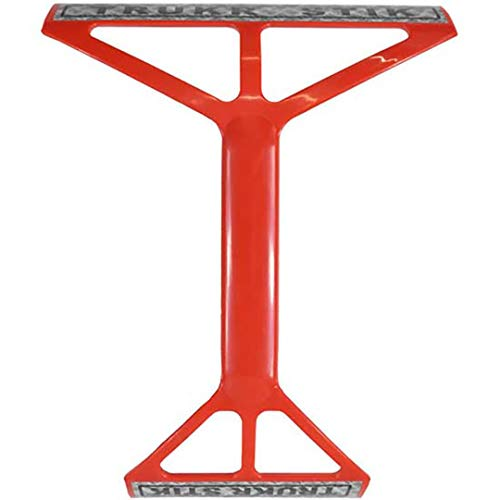 TRUKR STIK Truck and Large Vehicle Convex and Side Mirror Cleaning Squeegee (Red)