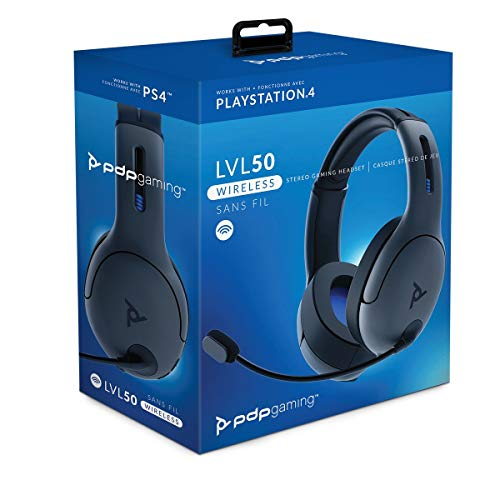 PDP - Auricular Stereo Gaming LVL50 Wireless, Gris (PS4)