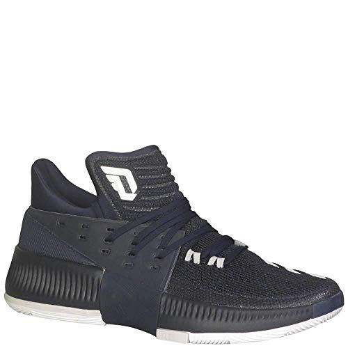 adidas Men's Dame 3 Basketball Shoe (11.5, Collegiate Navy/White)