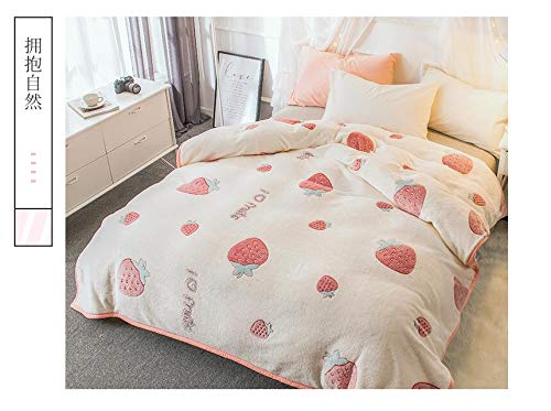 RONGXIE Neue Decke Dicke Koralle Fleece Warme Decke Für WinterSamt Plüsch Decke Blumenmuster Moderne Decke Für Couch Travel Home Camping Bettwäsche