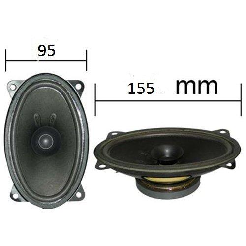 Paire de haut-parleurs ovales 95 x 155 mm 6 x 4\