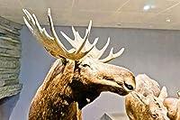 3000個の木製大人のパズル、減圧レ組み立てゲーム、最高のホリデーギフト- 木彫りの鹿(87*110cm)