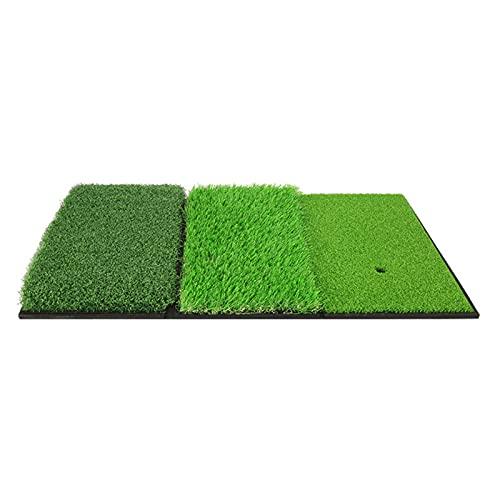 GAO XING SHOP Alfombrilla de práctica de golf, tres combinaciones, una multifunción plegable para interiores, color verde, tapete de práctica de 65 x 42 cm, regalos de golf
