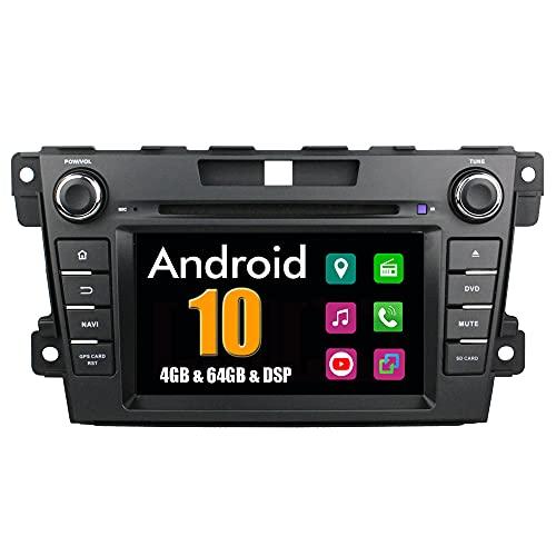 Roverone Quod Core Android Système 7 Pouces double DIN Autoradio GPS pour Mazda CX7 CX-7 CX 7 2007-2012 avec navigation radio stéréo DVD SD USB Bluetooth Mirror Link écran tactile