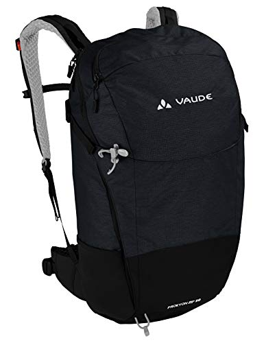 VAUDE Rucksaecke20-29l Prokyon Zip 20, Kompakter Wander- und Outdoorrucksack, black, one Size, 141360100