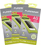Bundle - 3 Items: PureGear PureTek [Anti-Glare] Roll-On Screen Protector Kit with Easy Install Tray for Samsung Galaxy S5 (SM-G900)