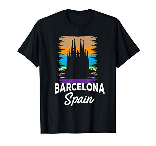 Catedral de Barcelona Retro Vintage Look Camiseta