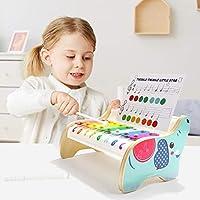 TOP BRIGHT Xilofono in Legno per Bambini – Strumento Musicale Giocattolo per Bambini di 1 Anno con 3 Spartiti – Tasti Colorati, Gioco educativo #6