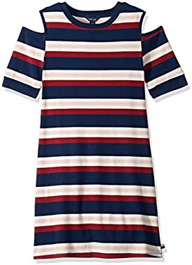 Tommy Hilfiger Girls' Short Sleeve Striped Dress