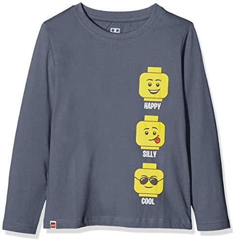 LEGO Jungen cm Langarmshirt, Grau (Dark Grey 965), (Herstellergröße: 140)