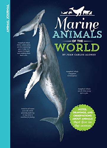 Animal Journal: Marine Animals of the World: Notes, drawings, and observations about animals that live in the ocean