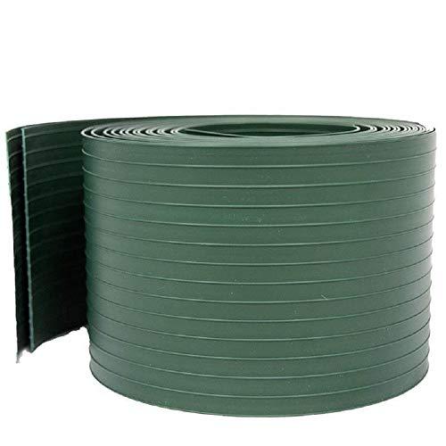 NOOR Sichtschutz 9,5cm x 2,55m in grün I Zaunblende PVC I Wetterfeste Sichtschutzstreifen I 2 STK.