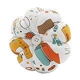 YISTA Wrist Pin Cushion Wearable Pumpkin Sewing Pin Cushions for Needlework (Beige)