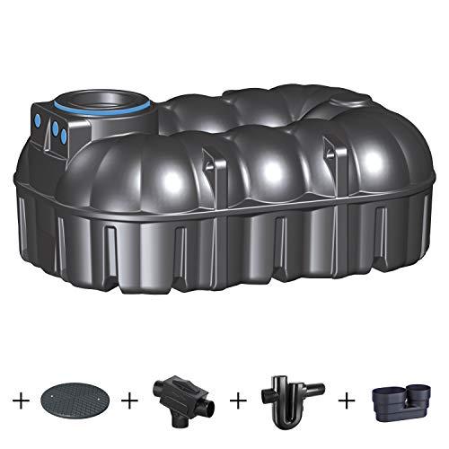 PREMIER TECH AQUA GmbH Zisterne 7100 Liter Regenwassertank NEO Profi mit Deckel, Filter, ber. Zulauf und Siphon - Kunststoff, Kunststoffzisterne, Komplettset