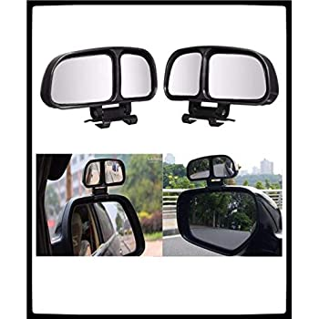 Automaze 2 pcs 3R-028 Car Rear View Blind Spot Parking Mirror Adjustable 360 Degree Wide Angle, Rear View Mirror Mounted Type