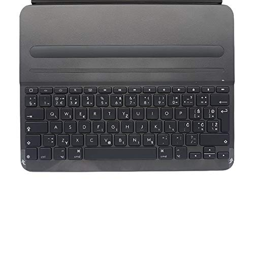 Logitech Slim Folio Pro iPad Case with Wireless Bluetooth Keyboard, iPad Pro 12.9 Inch (3rd Generation Models: A1876, A1895, A1983, A2014), Backlit Keys, 14 iOS Shortcut Keys, QWERTY UK Layout - Black