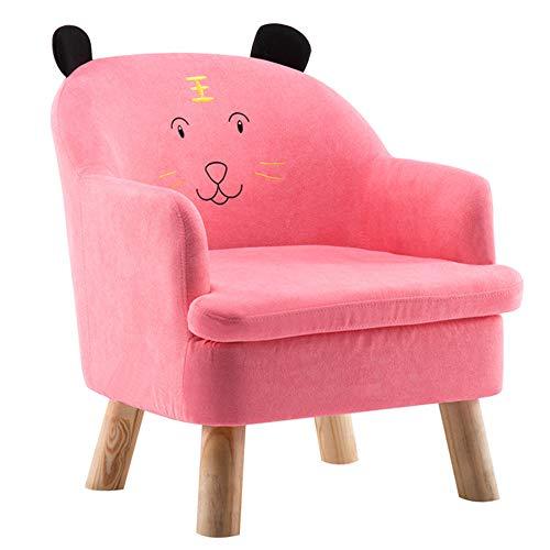 HAKN Canapé pour Enfant, canapé bébé Dessin animé (Couleur : Pink, Taille : B)