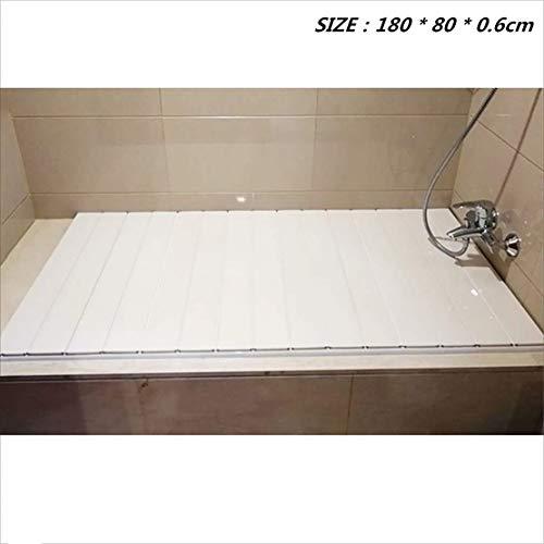 CFJJOAT Badewannenabdeckung Anti-Staub-Falten Dust Board Badewanne Isolierung Abdeckung PVC (Größe: 180 * 80 * 0,6 cm)
