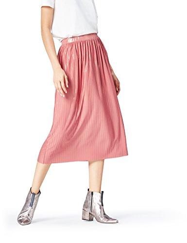 find. Rock Damen mit Plissee-Falten und Metallic-Fasern Rosa (Old Rose/Gold), 40 (Herstellergröße: Large)