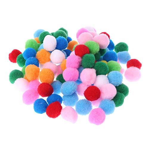 Menitn 100 Stücke Weiche Runde Flauschige Handwerk PomPoms Ball Mischfarbe Pom Poms 30mm DIY Handwerk DIY