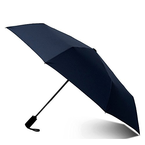 CMYK - Ombrello Pieghevole - Antivento - Solido - Automatico Apri e Chiudi - Di Alta Ingegneria Per Combattere I Danni Causati Da Ribaltamento - Compatto Piccolo Blu Mini Viaggio