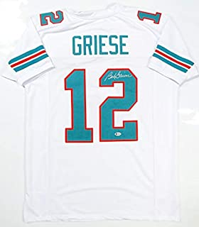 Bob Griese Autographed White Pro Style Jersey- Beckett Auth 2