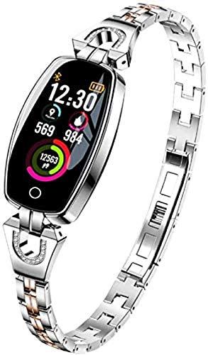 Seguimiento de actividad Seguimiento de actividad Pulsera inteligente pulsera deportiva fitness podómetro impermeable detección de sueño ritmo cardíaco reloj rastreador de fitness-C.