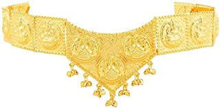 Natya Shastra Mango Gold finish Lakshmi waist jewellery (kamarband)for Women