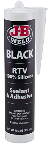 J-B Weld 31919 Black RTV Silicone Sealant and Adhesive - 10.3 oz.