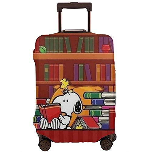 Snoopy Travel Maleta Protector Resistente a los arañazos, a prueba de polvo, elástico y flexible para equipaje de viaje, White (Blanco) - 364478284