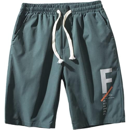 Pantalones Cortos Sueltos de Playa para Hombre, Casual, con cordón, Cintura elástica, Tendencia, Moda de Verano Salvaje, Pantalones Deportivos de Cinco Puntos 4XL