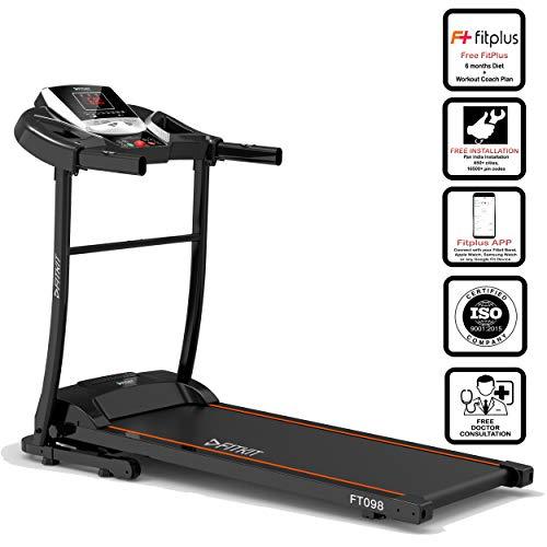 Fitkit FT098 1.5 HP (2 HP peak) Motorized Treadmill (Free Installation Service)