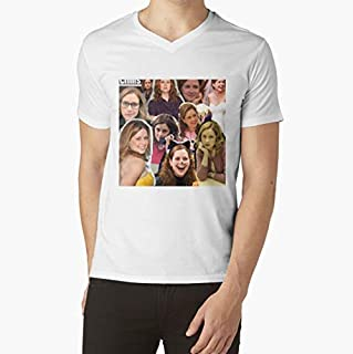 Pam BeesleyHalpert Jenna Fischer The Office VNeck TShirt, Unisex Hoodie, Sweatshirt For Mens Womens Ladies Kids