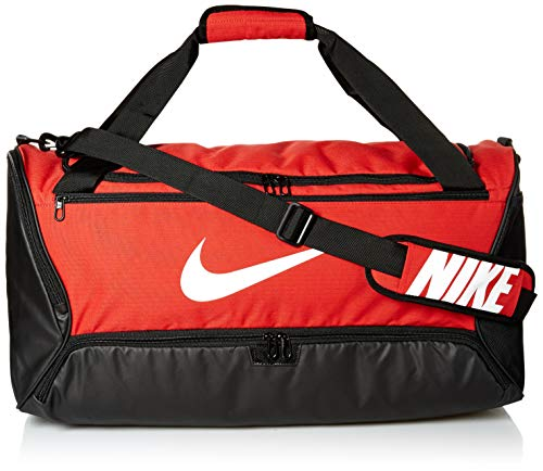 Nike_Adult Unisex_Duffel Grip Drum_NK BRSLA M DUFF - 9.0 (60L)_University RED/Black/White_BA5955-657-MISC