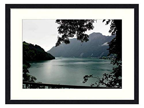 OiArt Wall Art Print Wood Framed Home Decor Picture Artwork(24x16 inch) - Italy Lake Maggiore Landscape