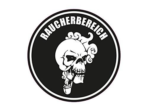 1 x Aufkleber Raucherbereich Plakette Totenkopf Sticker Tuning Smoke OEM JDM Fun