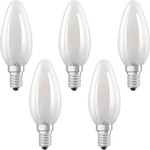 Osram LED Base Classic B Lampe, Sockel: E14, Warm White, 2700 K, 4 W, Ersatz für 40-W-Glühbirne, matt