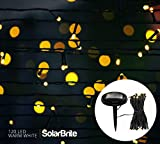 Solar Brite Deluxe Solar Fairy Lights 120 LED Super Bright Decorative String, Choice of Light Effect. Ideal...