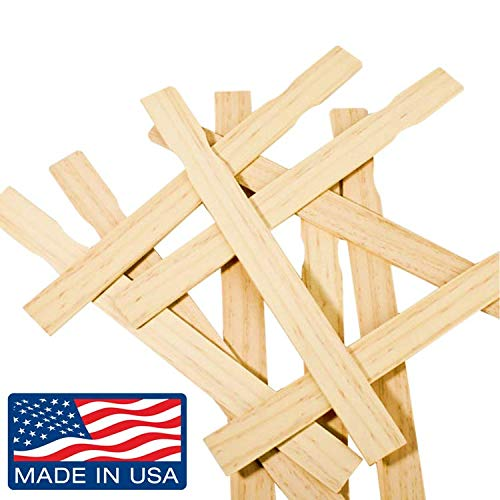 """Box of 100-12"""" Inch Premium Grade Splinter Free Woodman Crafts Paint Stir Sticks, Ideal for DIY Wood Craft Projects - Paddle to Mix Epoxy Or Paint - Garden - Library (Pack of 100)"""