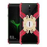 YUCPING For Xiaomi Black Shark 2 Serie Héroe Anti-caída Resistente Al Desgaste De La Aleación Estuche Protector con El Soporte Funda para teléfono móvil (Color : Red Gold)