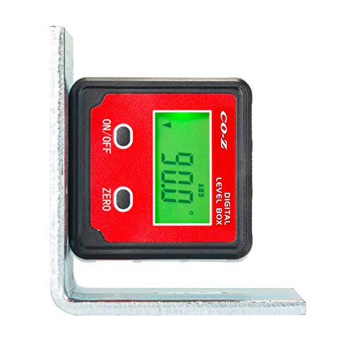 CO-Z Digital Level and Angle Finder, Angle Gauge and Protractor, Inclinometer, Box, Magnetic Base and Backlight, Easy Two-Button Operation for Bevel, Table Saw, Miter Saw Measurements and Leveling